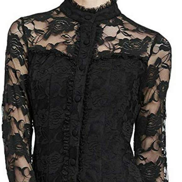Scarlet Darkness Tops - Scarlet Darkness Goth Batcave Victorian Lace Top